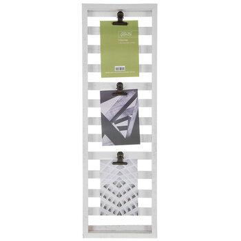 White Wood Pallet Clip Collage Frame