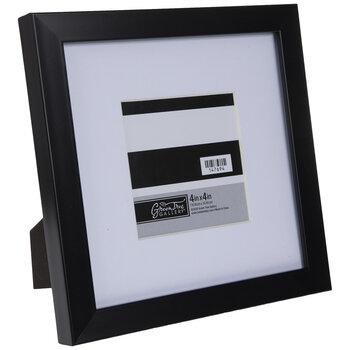 "Black Flat Frame - 4"" x 4"""