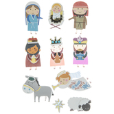 Children's Nativity 3D Stickers