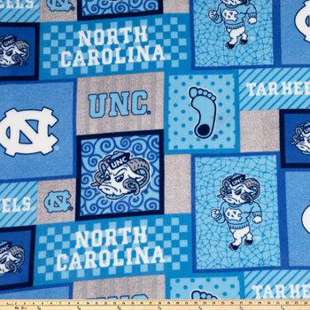 North Carolina Block Collegiate Fleece Fabric