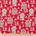 Gingerbread House Cotton Fabric