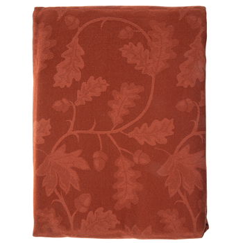 "Rust Leaves Table Cloth - 60"" x 104"""