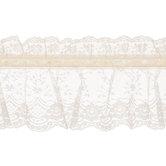 Ecru Lace With Ribbon Trim