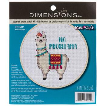 No Probllama Counted Cross Stitch Kit