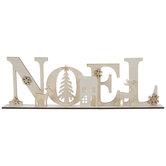 Noel Cutout Wood Decor