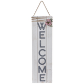 Welcome Floral Wood Wall Decor
