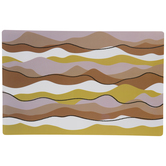 Warm Wavy Striped Placemat