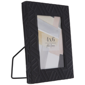 "Matte Black Geometric Metal Frame - 4"" x 6"""
