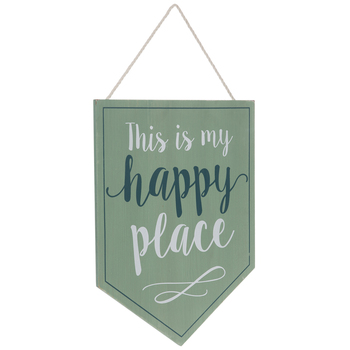 This Is My Happy Place Banner Wood Wall Decor
