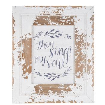 Then Sings My Soul Wood Wall Decor