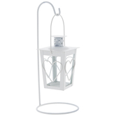 White Heart Metal Lantern