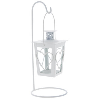 White Heart Metal Lantern