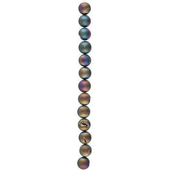 Amethyst Iris Crystalloid Round Bead Strand