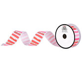XOXO Striped Wired Edge Grosgrain Ribbon - 1 1/2""