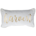 White & Gold Harvest Pillow
