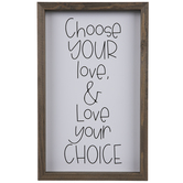 Choose Your Love Wood Wall Decor