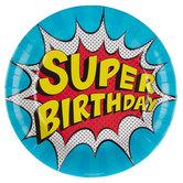Super Birthday Paper Plates - Large