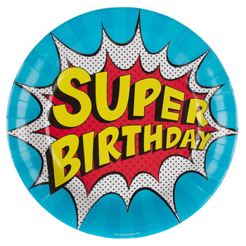 Super Birthday Paper Plates - Large