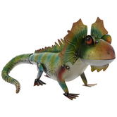 Green & Orange Frilled Metal Lizard