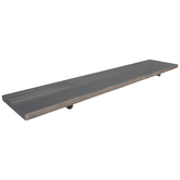 Silver Rustic Barnwood Wall Shelf
