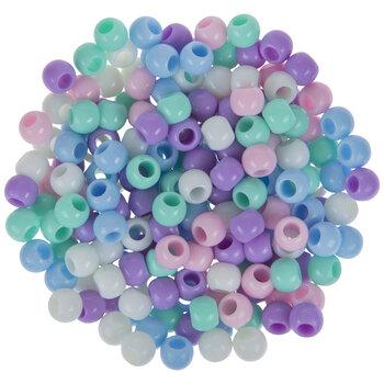 Pastel Round Plastic Beads