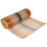 "Metallic Orange Ombre Deco Mesh Ribbon - 10"""