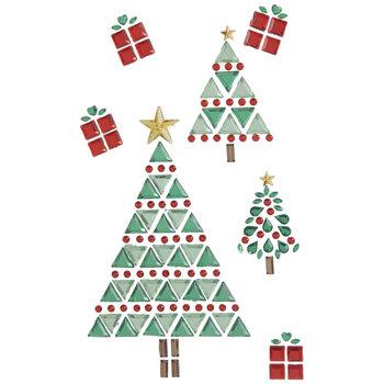 Christmas Trees & Presents Rhinestone Stickers