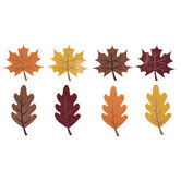 Red, Orange & Yellow Glitter Leaf Cutouts