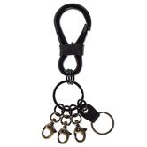 Black Multi-Hook Keychain