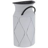 White Jug Metal Wall Container