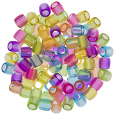 Translucent Oblong Plastic Beads