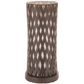 Brown Lattice Metal Uplight Lamp