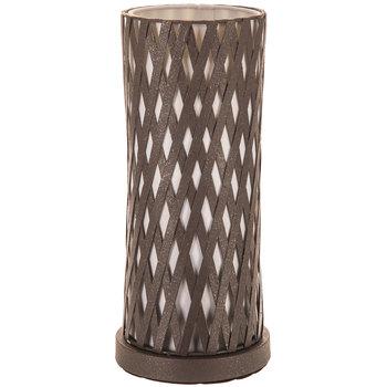 Brown Lattice Metal Uplight Lamp