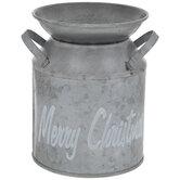 Merry Christmas Galvanized Metal Milk Can