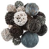 Gray & White Twig Decorative Spheres