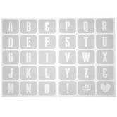 Tallboy Alphabet Adhesive Stencils
