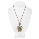 Pocket Watch Necklace With Filigree Cover