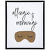 Allergic To Mornings Canvas Wall Decor
