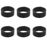 Black Silicone Rings - Size 7