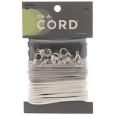 Black, Gray & White Cord Necklace & Lobster Clasp Kit