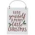 Merry Little Christmas Wood Wreath Embellishment