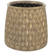 Gold Diamond Engraved Flower Pot