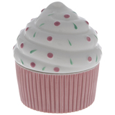 Pink & White Cupcake Jewelry Box