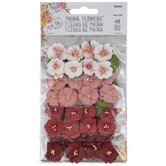 Red & Pink Flower Embellishments