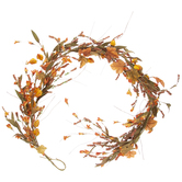 Orange Floral & Maple Leaf Garland