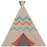 Teepee Painted Wood Shape