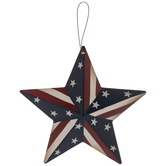 Red, White & Blue Star Ornament