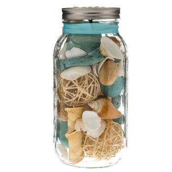 Shoreline Mason Jar with Shells