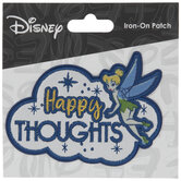 Happy Thoughts Tinker Bell Iron-On Applique