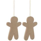 Paper Mache Gingerbread Ornaments